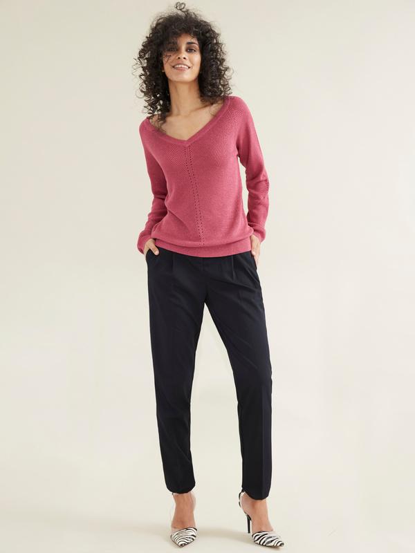 Зауженные брюки с врезными карманами - фото 2