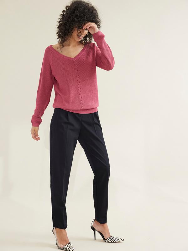 Зауженные брюки с врезными карманами - фото 4