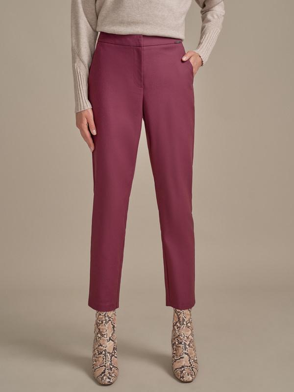 Зауженные брюки в крапинку - фото 1