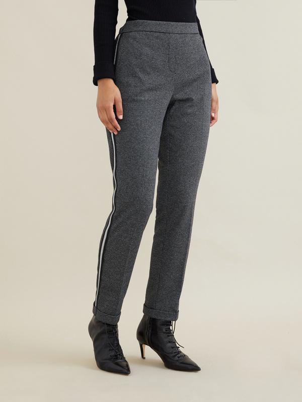 Зауженные брюки с боковой полоской - фото 3