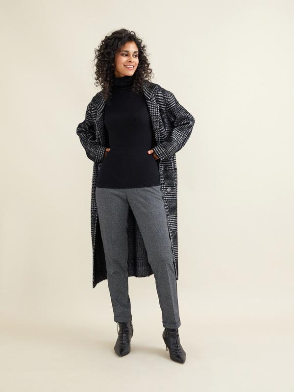 Зауженные брюки с боковой полоской - фото 4