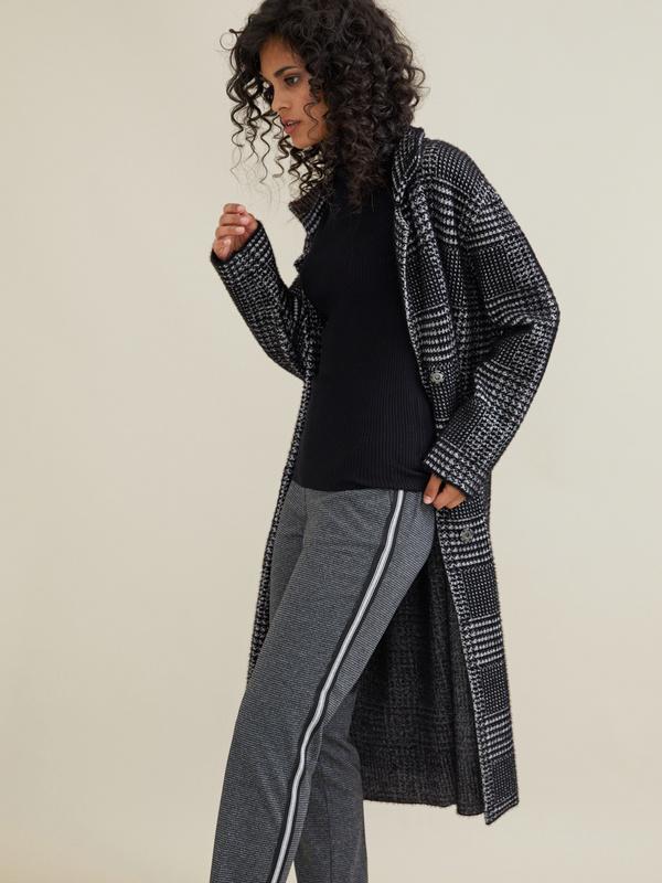 Зауженные брюки с боковой полоской - фото 6