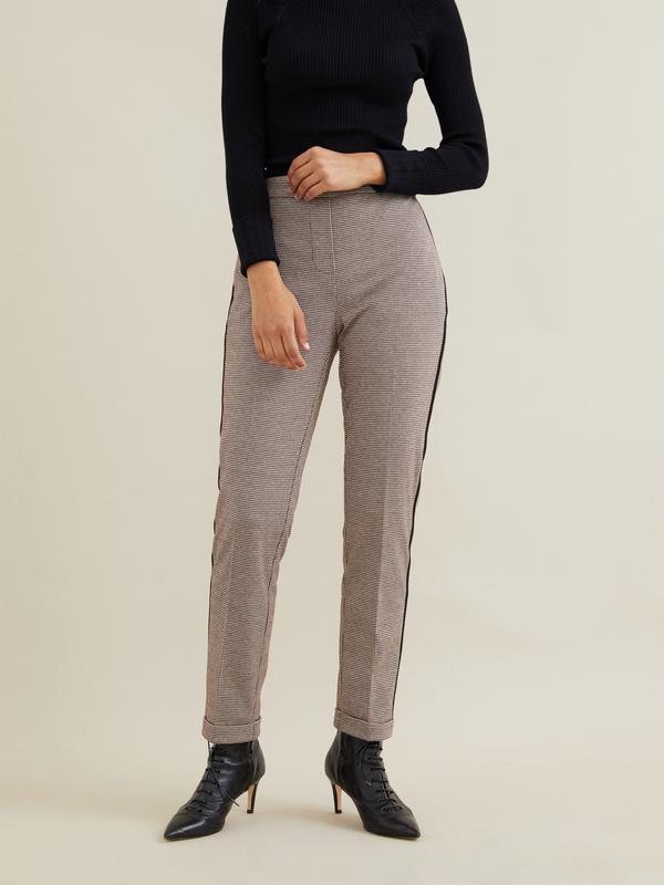 Зауженные брюки с боковой полоской - фото 1