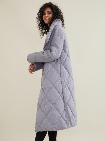 Стеганое пальто с воротником-стойка - фото 2