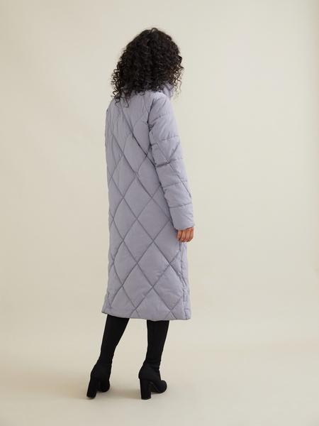 Стеганое пальто с воротником-стойка - фото 7