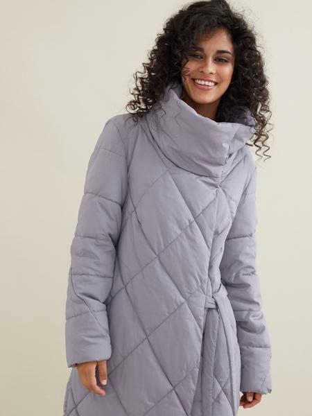 Стеганое пальто с воротником-стойка - фото 8