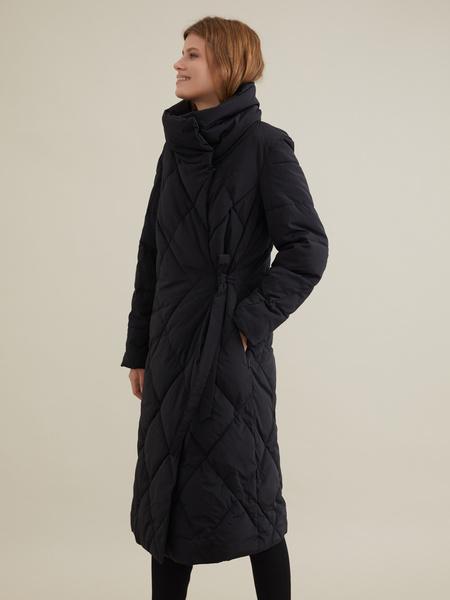 Стеганое пальто с воротником-стойка - фото 3