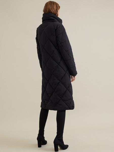 Стеганое пальто с воротником-стойка - фото 5