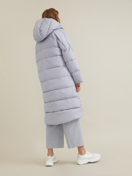 Стеганое пальто оверсайз - фото 2