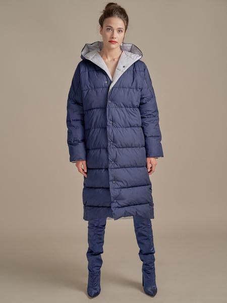 Стеганое пальто оверсайз - фото 1