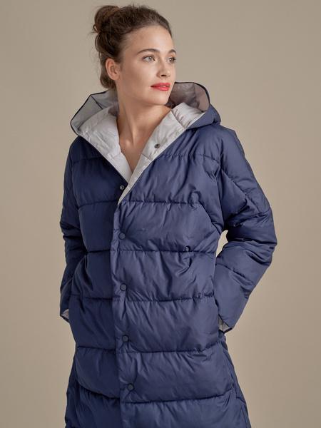 Стеганое пальто оверсайз - фото 4