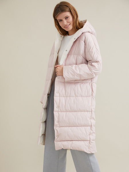 Стеганое пальто оверсайз - фото 5