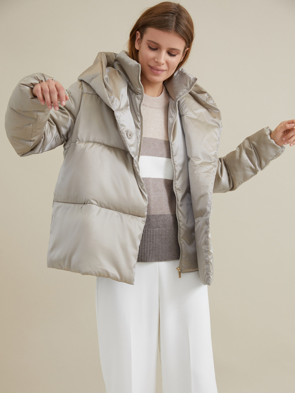Стеганая куртка с капюшоном - фото 2