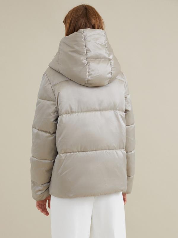 Стеганая куртка с капюшоном - фото 5