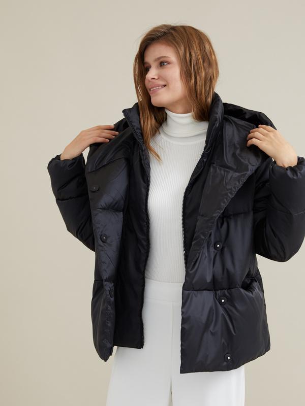 Стеганая куртка с капюшоном - фото 1