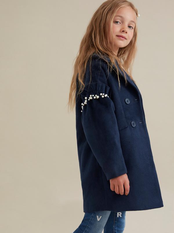 Пальто для девочек с бусинами - фото 2