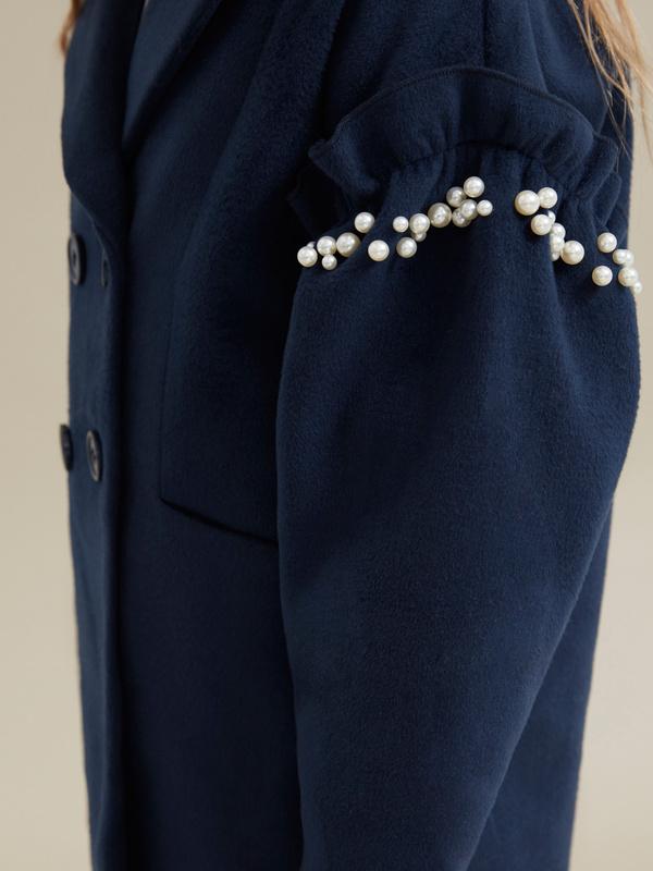 Пальто для девочек с бусинами - фото 3