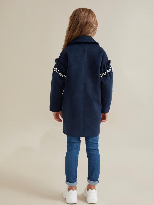 Пальто для девочек с бусинами - фото 4