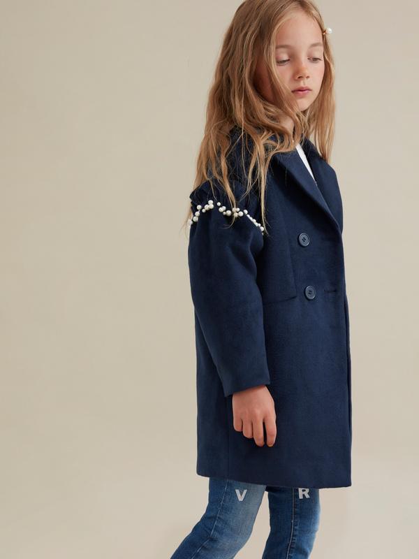 Пальто для девочек с бусинами - фото 5