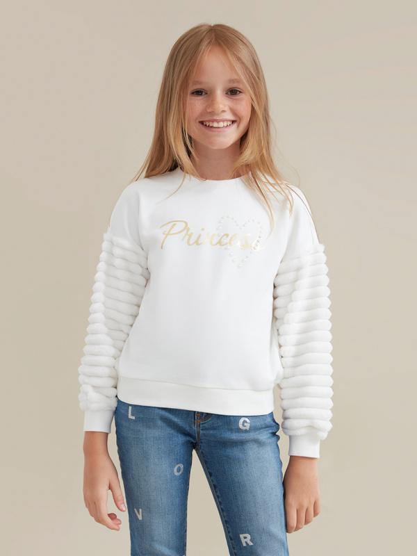 Джемпер для девочек с надписью - фото 1