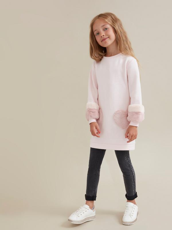 Платье для девочек с объемными рукавами - фото 1