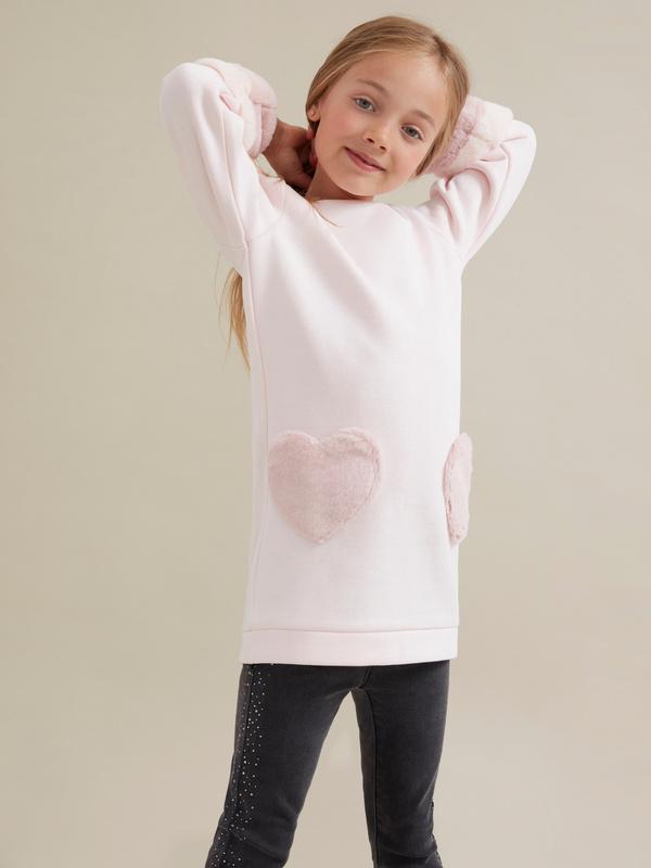 Платье для девочек с объемными рукавами - фото 2