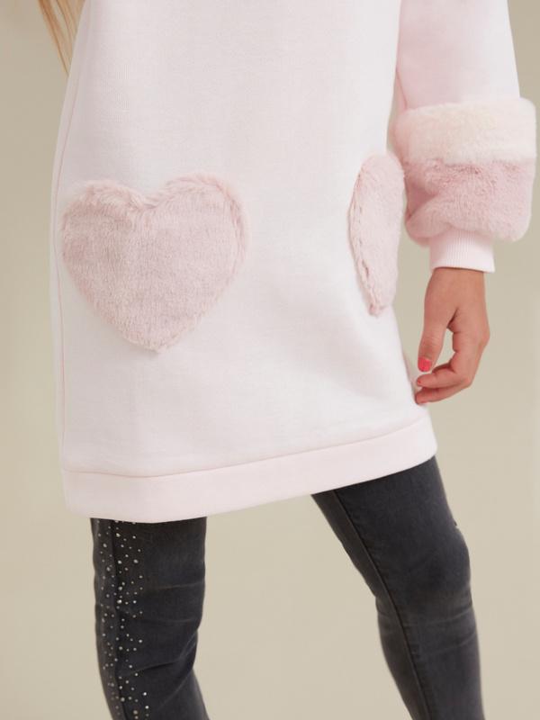 Платье для девочек с объемными рукавами - фото 4