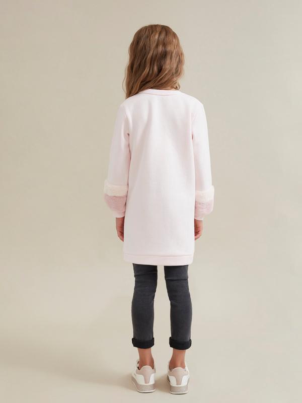 Платье для девочек с объемными рукавами - фото 5