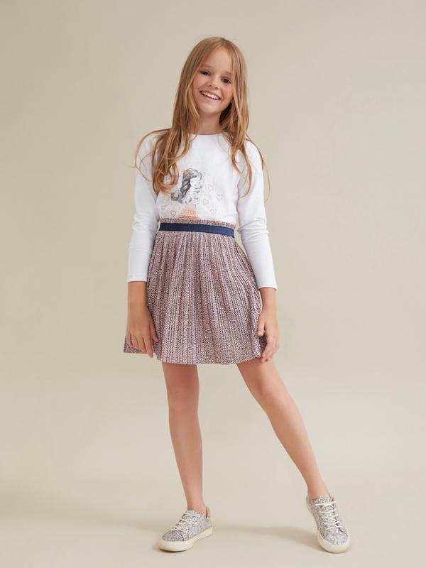 Плиссированная юбка для девочек - фото 1