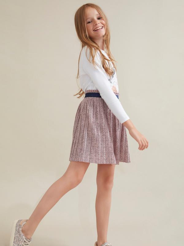 Плиссированная юбка для девочек - фото 2