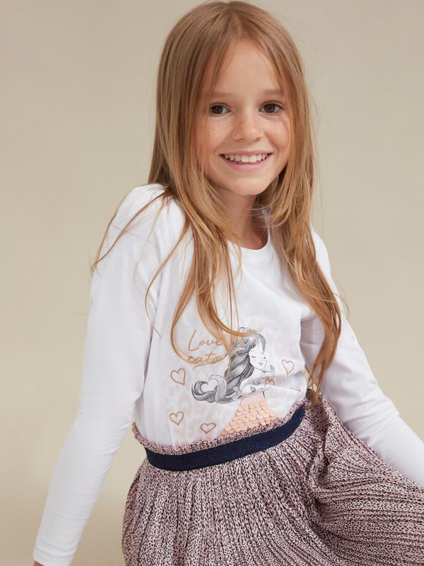Плиссированная юбка для девочек - фото 5
