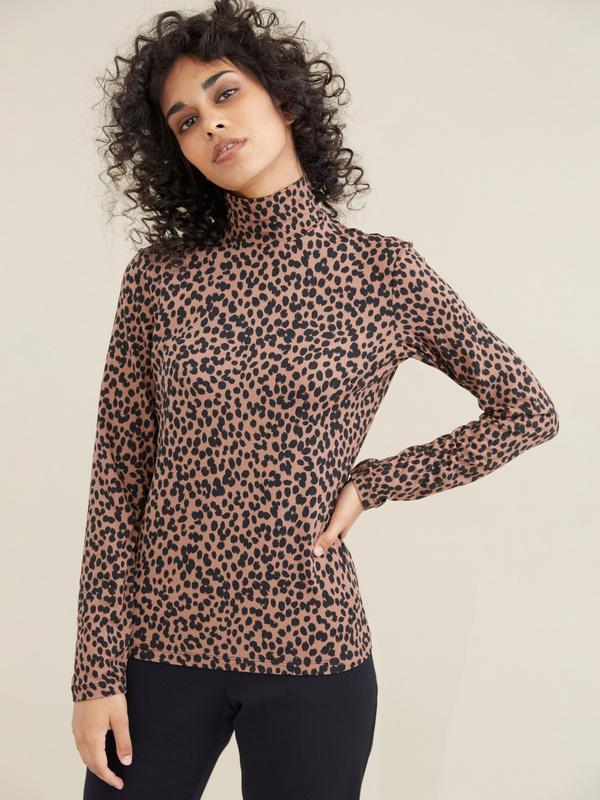 Облегающий джемпер с леопардовым принтом - фото 2