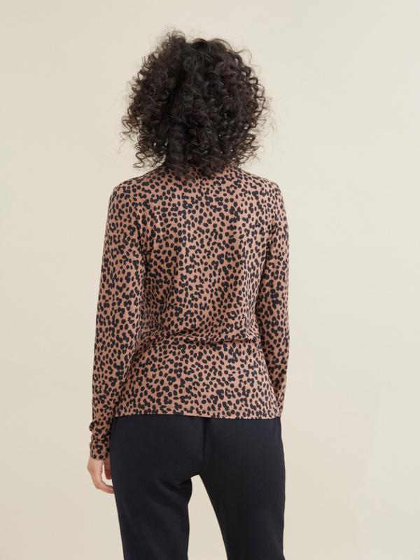 Облегающий джемпер с леопардовым принтом - фото 4
