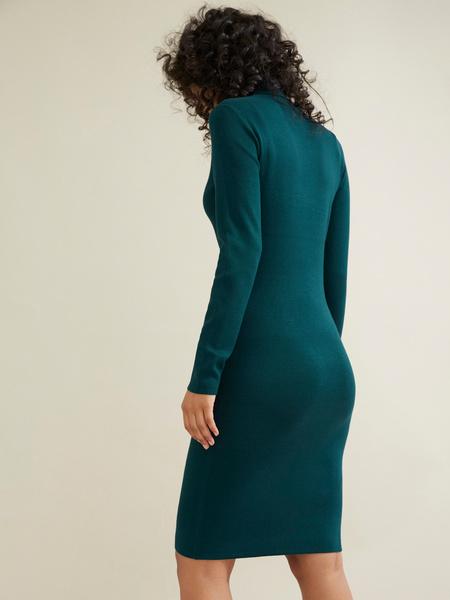 Облегающее трикотажное платье вискоза - фото 5