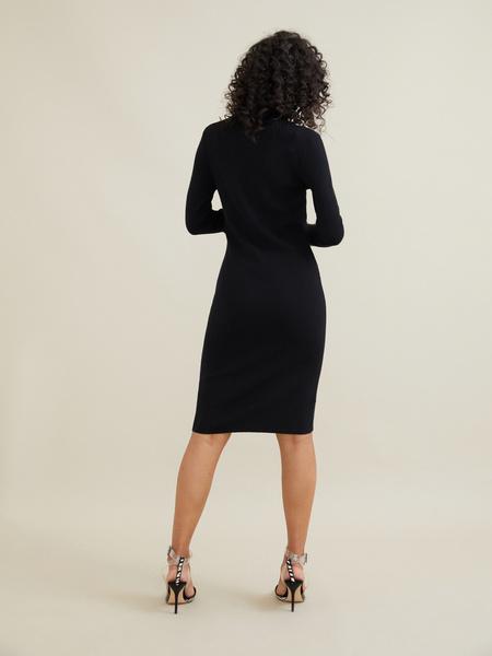 Облегающее трикотажное платье вискоза - фото 4
