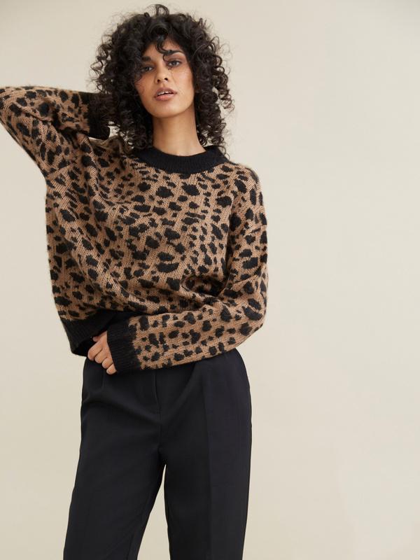 Джемпер с леопардовым принтом - фото 1