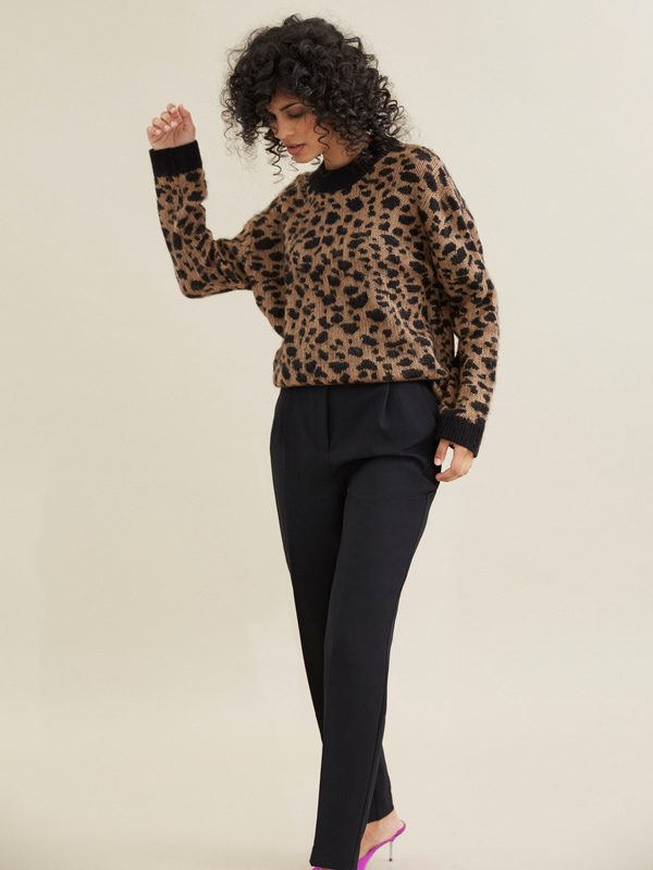 Джемпер с леопардовым принтом - фото 2