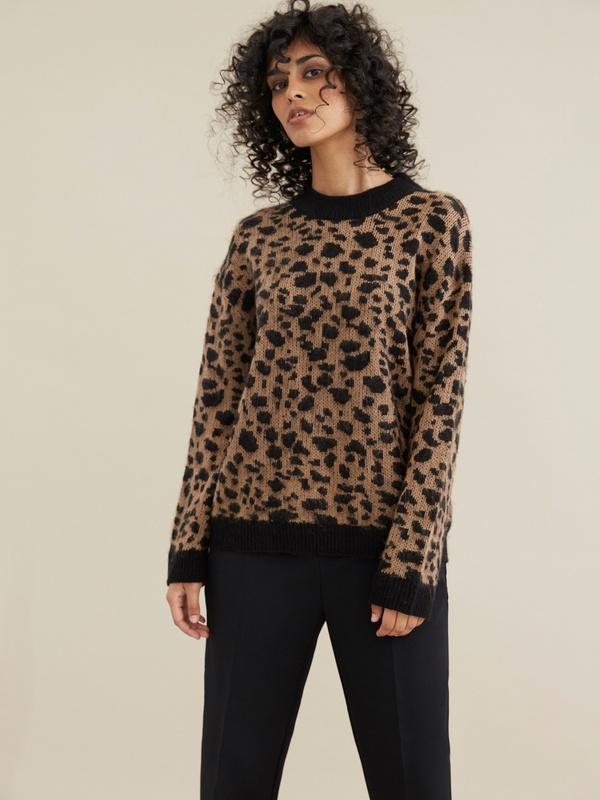 Джемпер с леопардовым принтом - фото 3