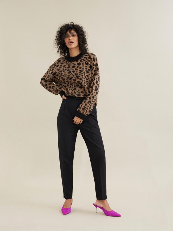 Джемпер с леопардовым принтом - фото 5