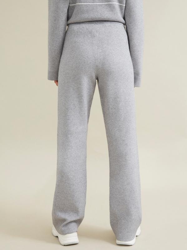 Трикотажные брюки с контрастной полосой - фото 5