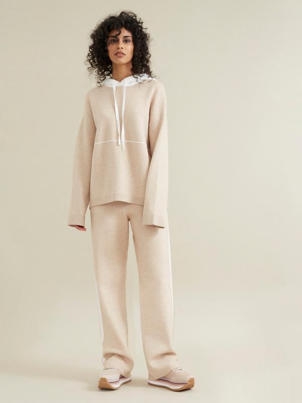 Трикотажные брюки с контрастной полосой - фото 2