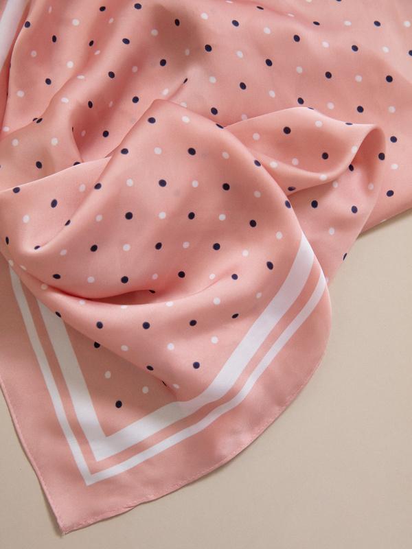 Атласный платок в горох - фото 3