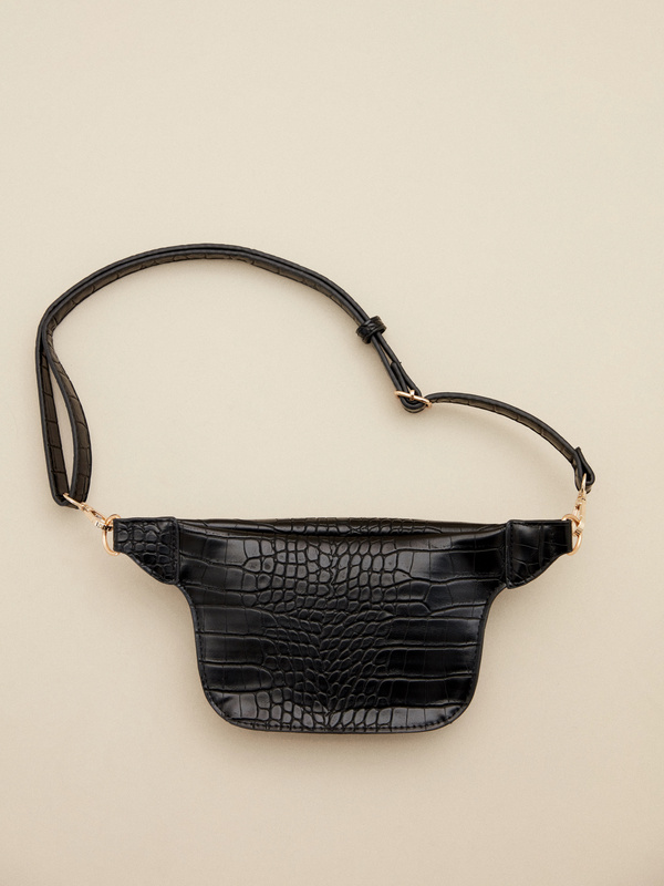Поясная сумка имитация крокодиловой кожи - фото 3