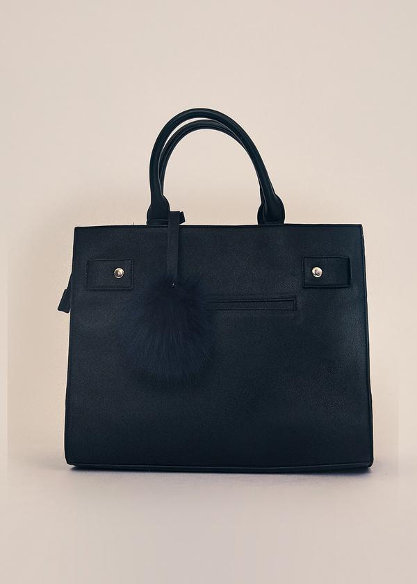 Фактурная сумка с брелком - фото 1