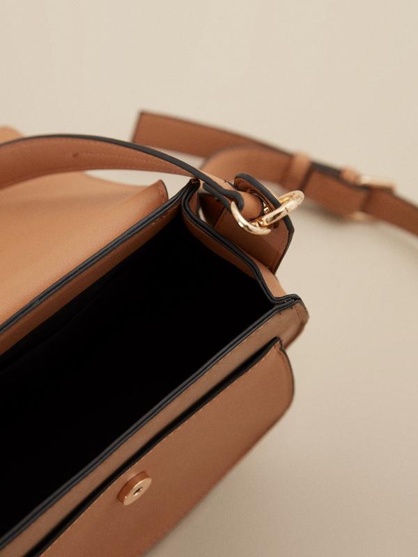Мини-сумка с клапаном на длинном ремешке - фото 2
