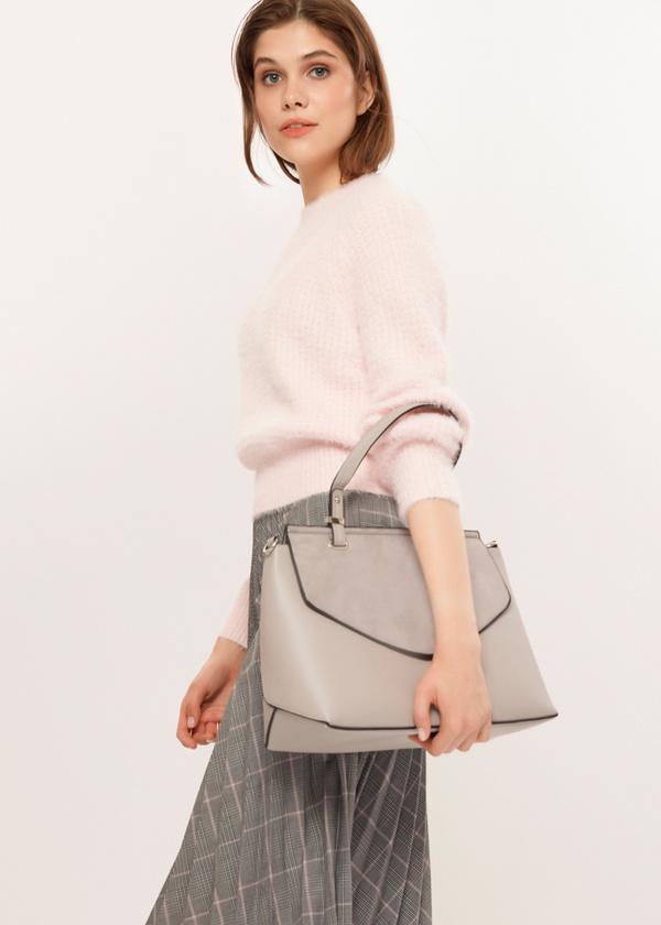 Фактурная сумка с длинным ремешком - фото 3
