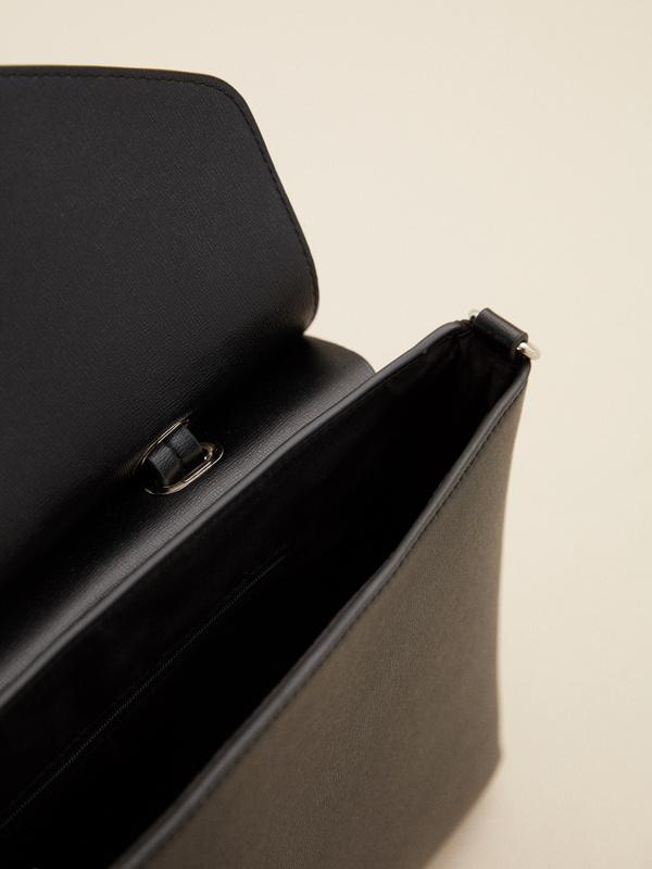 Фактурная сумка с длинным ремешком - фото 4