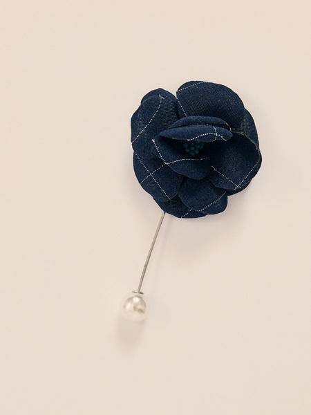 Текстильная брошь - фото 1