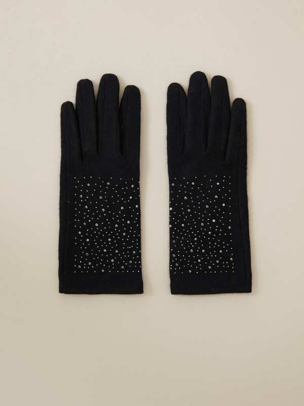 Перчатки со стразами - фото 1