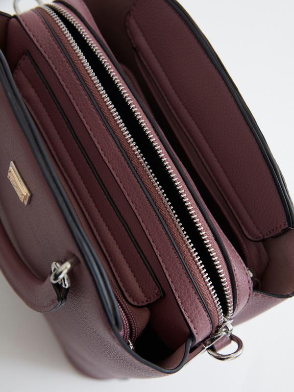 Фактурная сумка на длинном ремешке - фото 3